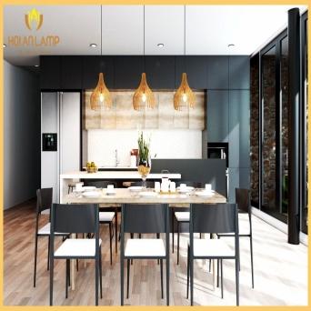 Decor nội thất hiện đại thu hút hơn nhờ đèn gỗ